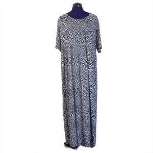 Ulla Popken Black White Patterned Dress